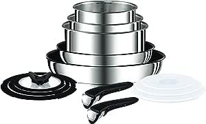 Tefal Ingenio Pan Set, Stainless Steel, 13-Piece