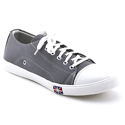 Grey Smart Canvas Casual Shoes