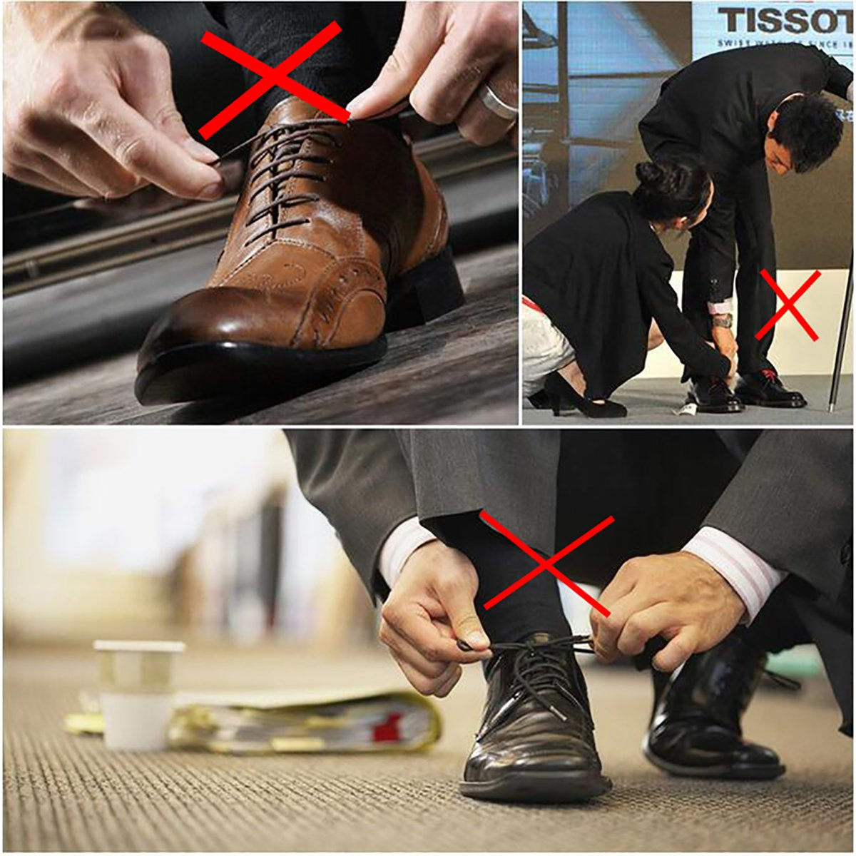 Leather Shoes Boots Silicone Waxed Thin Oxford Round Shoe Laces Shackcom 2 Pack No Tie Dress Shoe Laces for Men and Women