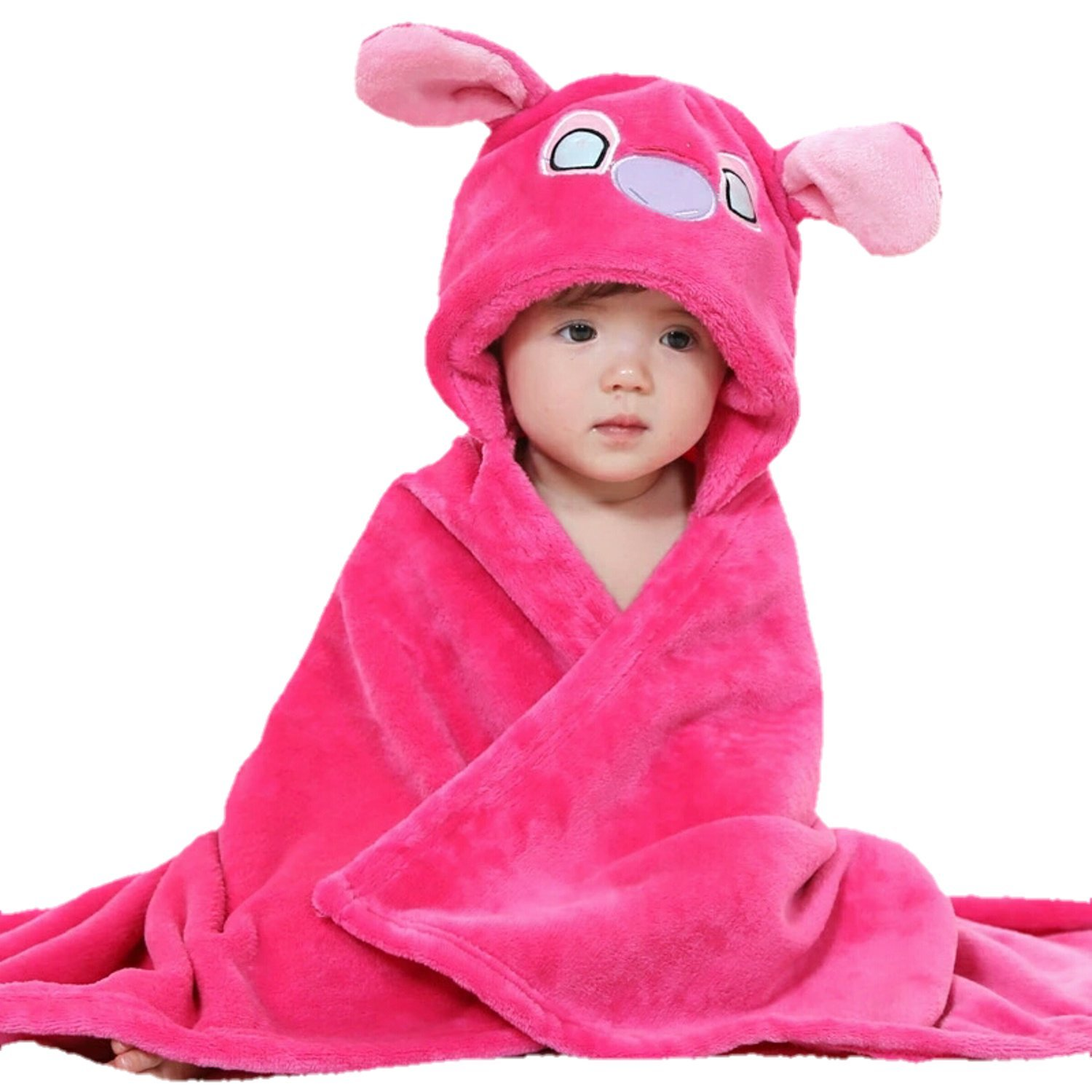 Brandonn Premium Fashions Hooded Baby Blanket (Hot Pink)