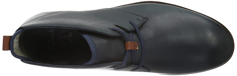 Clarks Blau Herren Trigen Kurzschaft Stiefel Blau Clarks (Navy Leather) b4ea8e