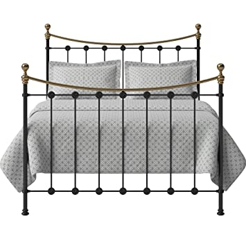 Original Bed Co Carrick Iron and Brass Bed Frame with High-Grade ...