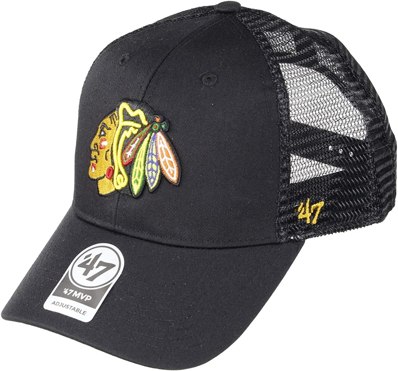 Gorra trucker negra de Chicago Blackhawks NHL MVP Bransonde 47 ...