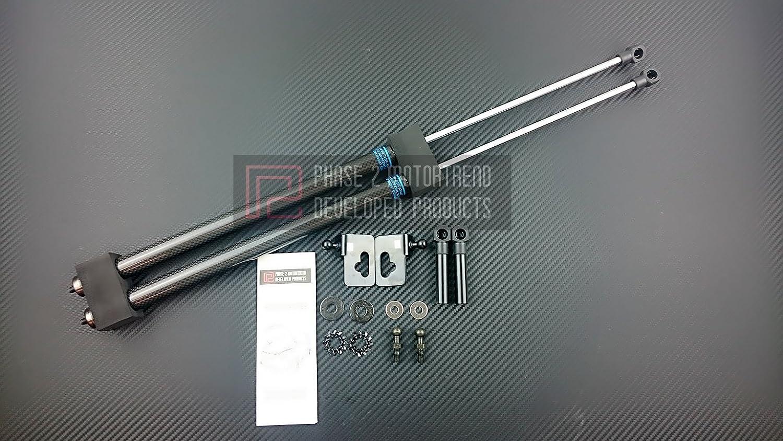 P2M Nissan S13 1989-94 240SX Carbon Hood Damper P2-CHDNS13-TP