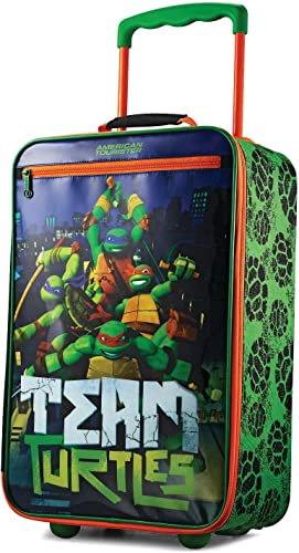 American Tourister Kids Softside Upright Luggage, Nickelodeon Ninja Turtles, Carry-On 18-Inch