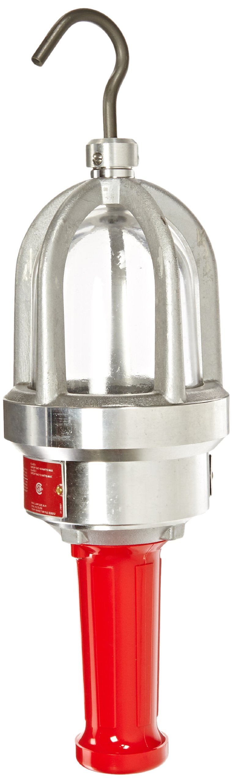 Woodhead 61430 Haztex Handlamp, Hazardous Location, Incandescent Bulb, 100W Maximum Lamp Wattage