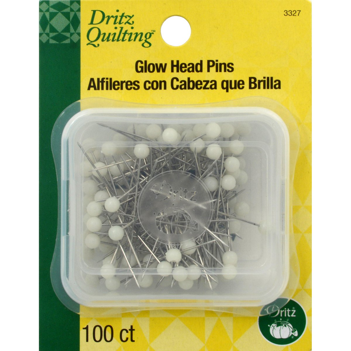 Dritz 3327 Quilting Glow Pins (100 Pack)