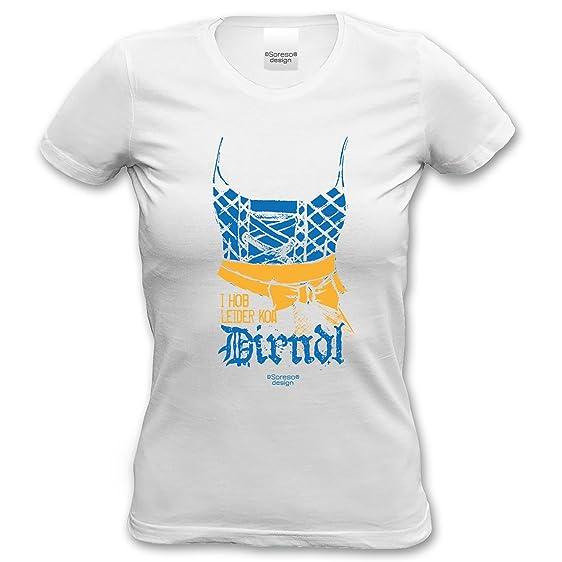 trendiges Frauen Mädels Fun-Tshirt Outfit Motiv I hob leider koa Dirndl zur Wiesn  Volksfest
