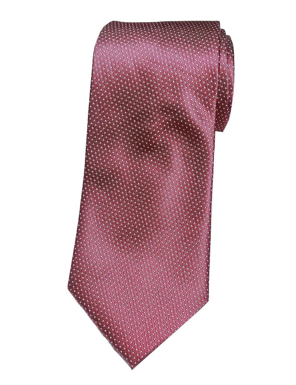Towergem Extra Larga Corbata de Poliéster XL Borgoña Color Puro ...