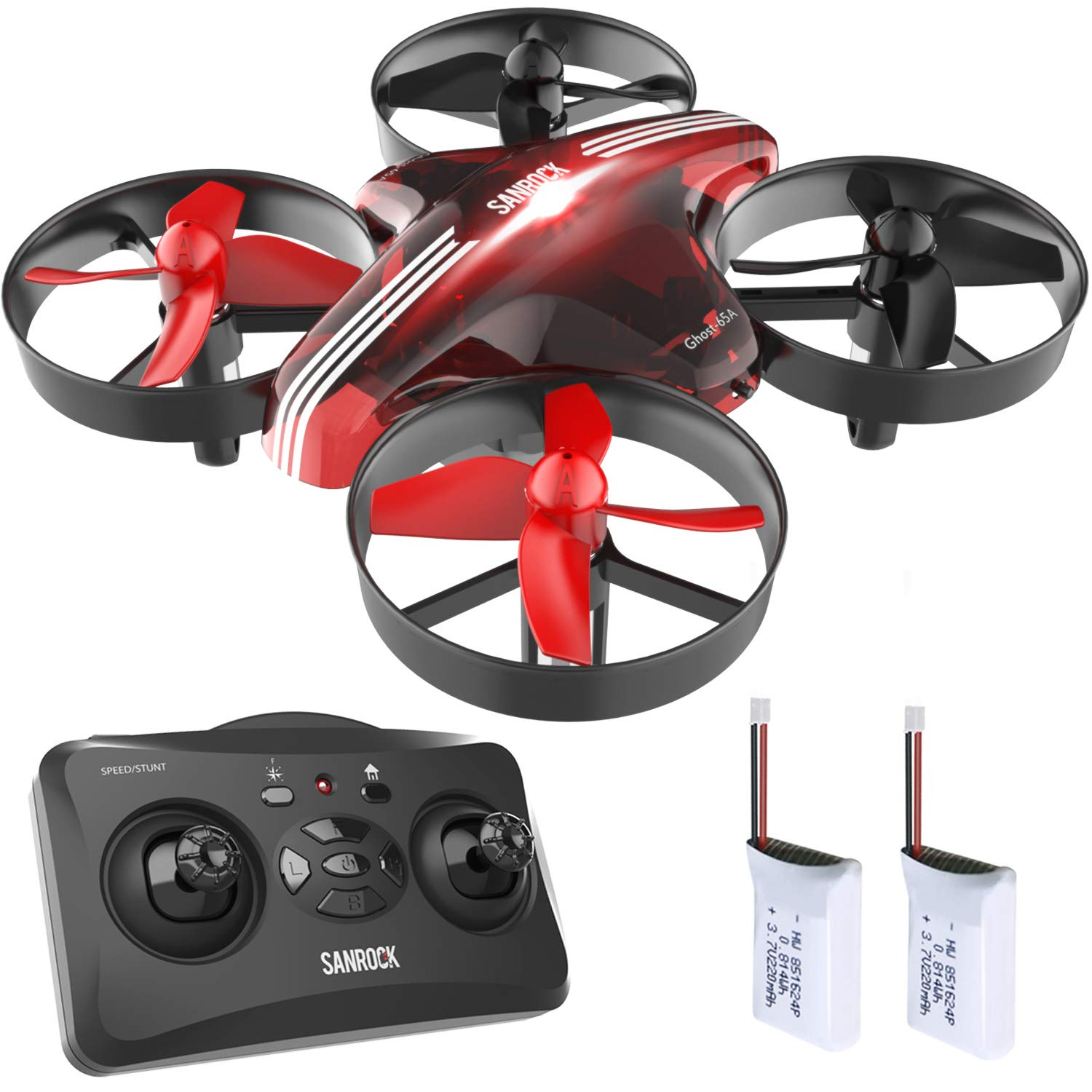SANROCK GD65A Drone for Kids and Beginners, RC Mini Drone Quadcopter with Extra Battery, RTF 4 Channel 2.4G 6-Gyro Remote Control Aircraft with One key Return Home, 3D Flip, Great toy for Boys & Girls by SANROCK