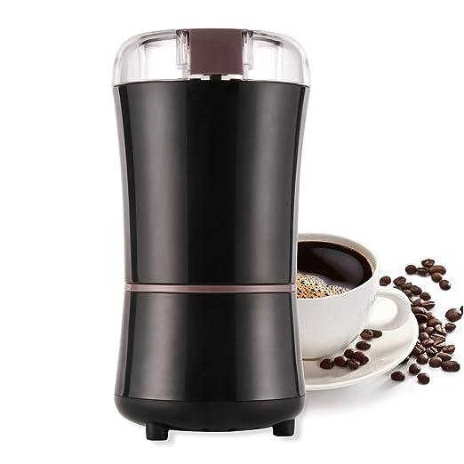 AONCO Molinillo Eléctrico de Café Semillas Especias Frutos Secos Molinos de Cuchillas Acero Inoxidable de 400W Potencia Muele Rápido Viene con Cepillo ...