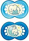 """MAM 111211 - Ciuccio """"Night"""" in silicone per bambini dai 6 ai 16 mesi, senza BPA, confezione doppia, colori assortiti"""