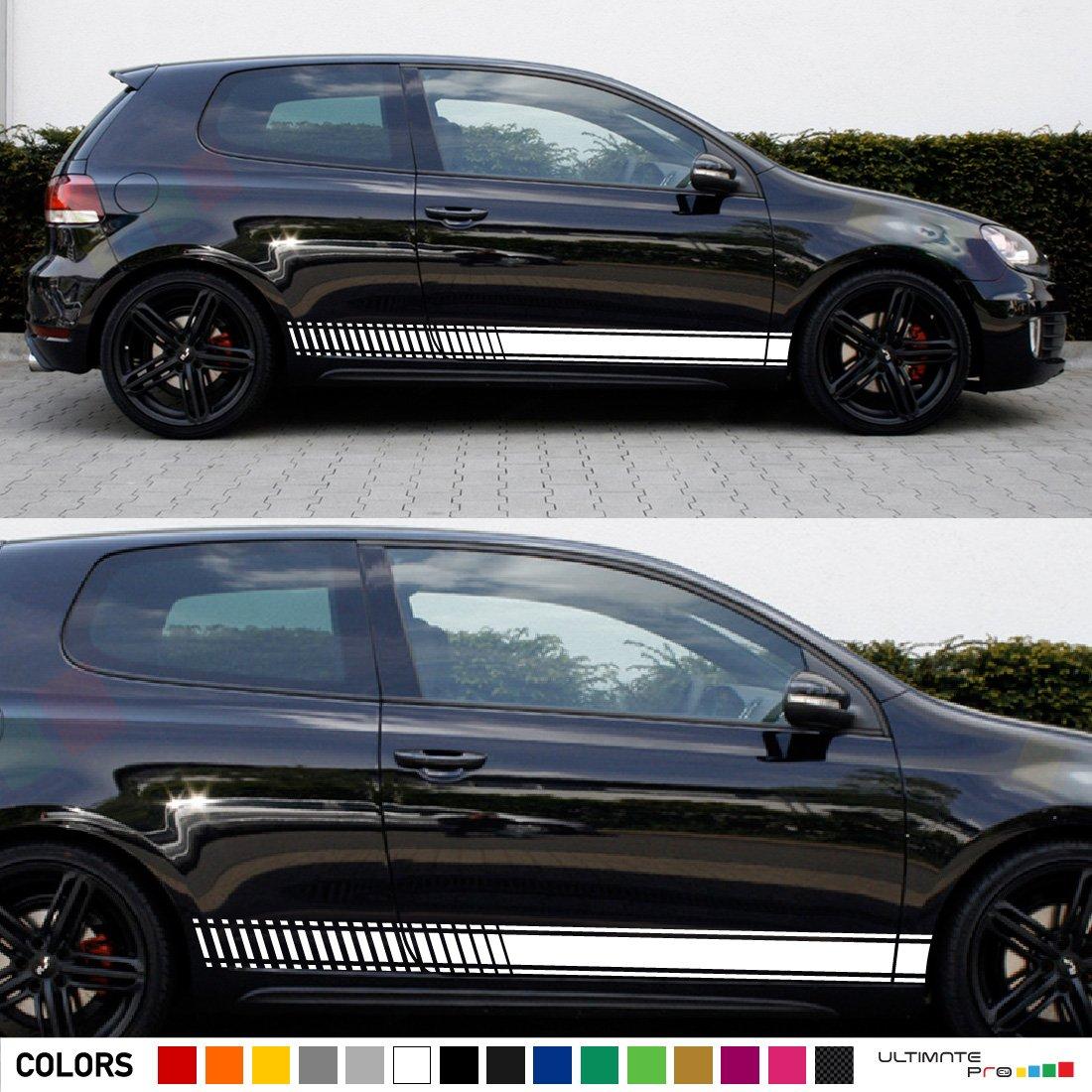 Amazon.com: Set Of Sport Side Stripes Decal Sticker Vinyl Compatible With  Volkswagen VW Golf GTI R 3/5 Door: Automotive