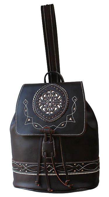 Funrey Bolso mochila de piel de Ubrique: Amazon.es: Zapatos