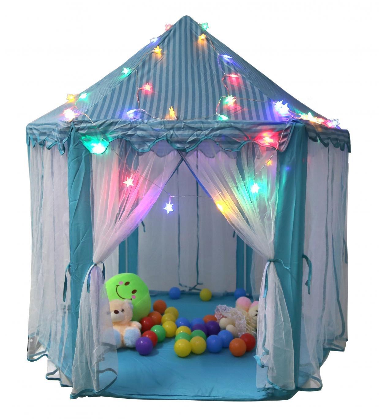 WODISON Sechseck Spielhaus Prinzessin Play Zelt für Kinder mit Stern ...
