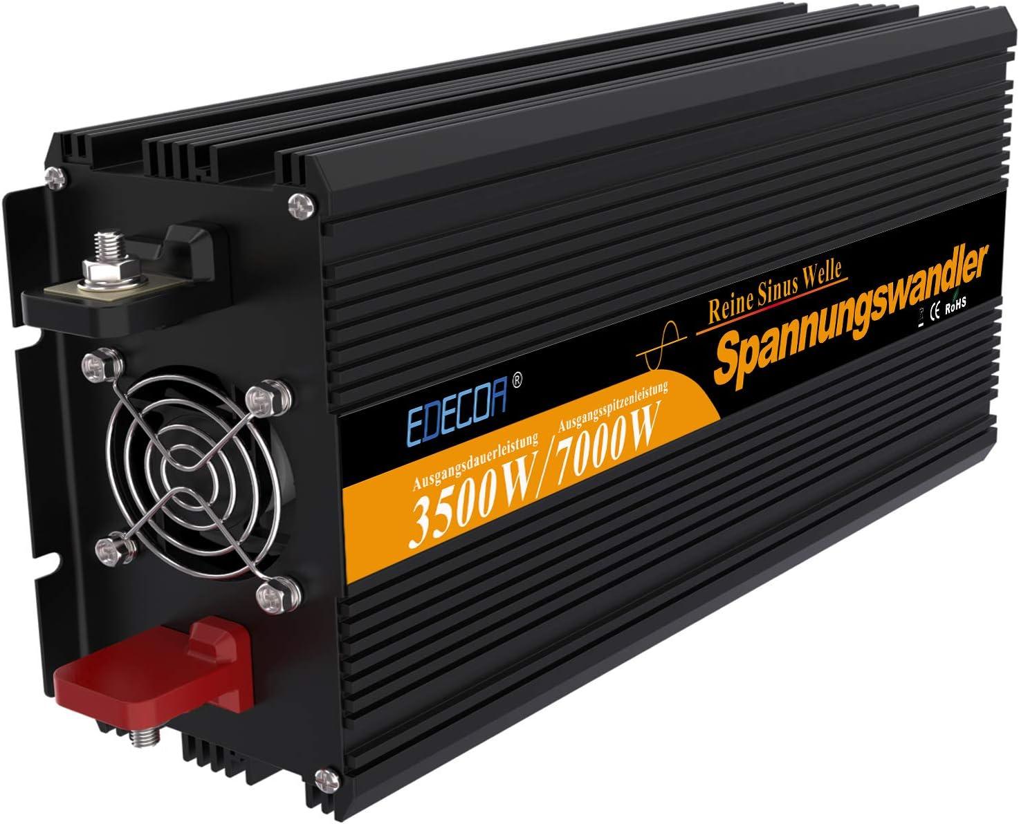Inversor onda pura convertidor 24v 220v camion inversor 3500w de onda pura con mando a distancia