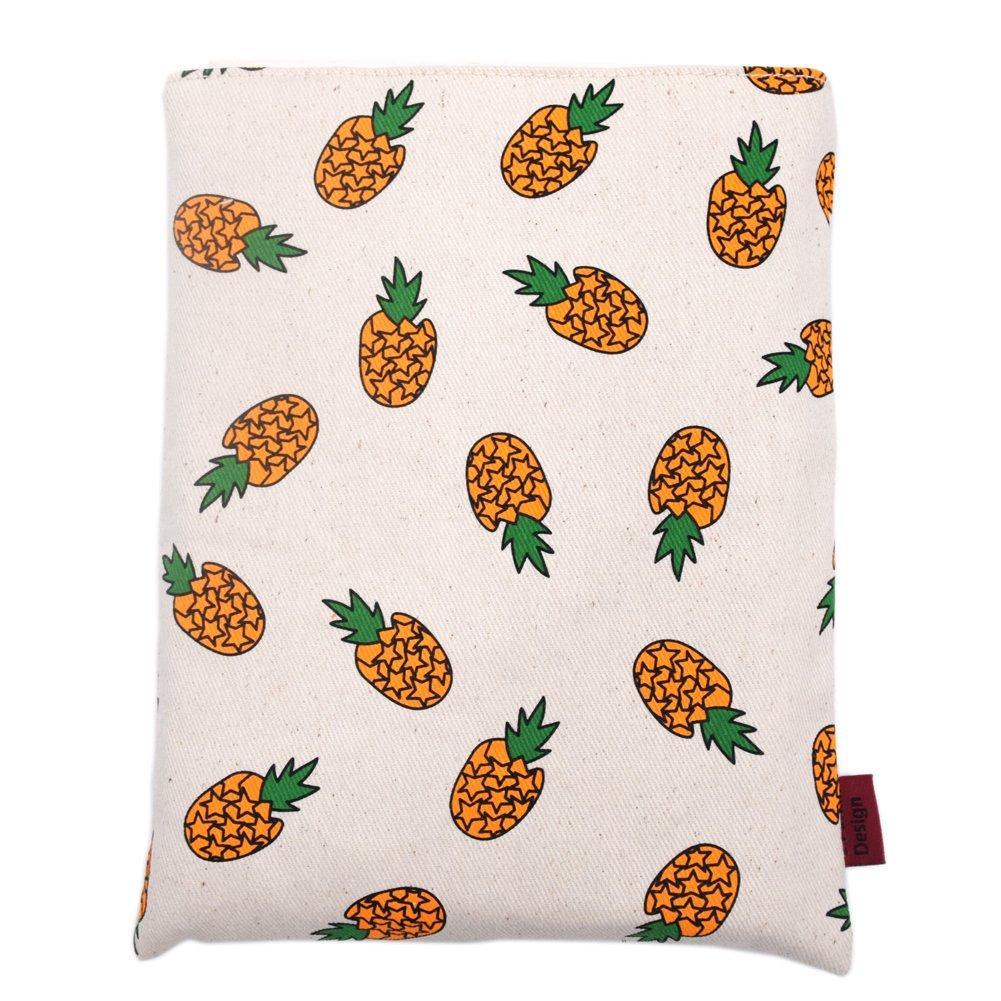 Book Sleeve Pineapple Book Cover Small Medium Book Sleeves Teen Gift (Medium)