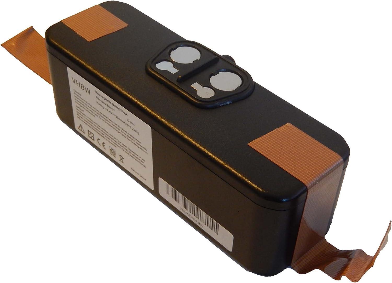 vhbw Batería Li-Ion 3000mAh (14.4V) compatible con iRobot Roomba ...