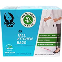Plant Based - Hippo Sak Tall Kitchen Bags with Handles, 13 Gallon (45 Count)