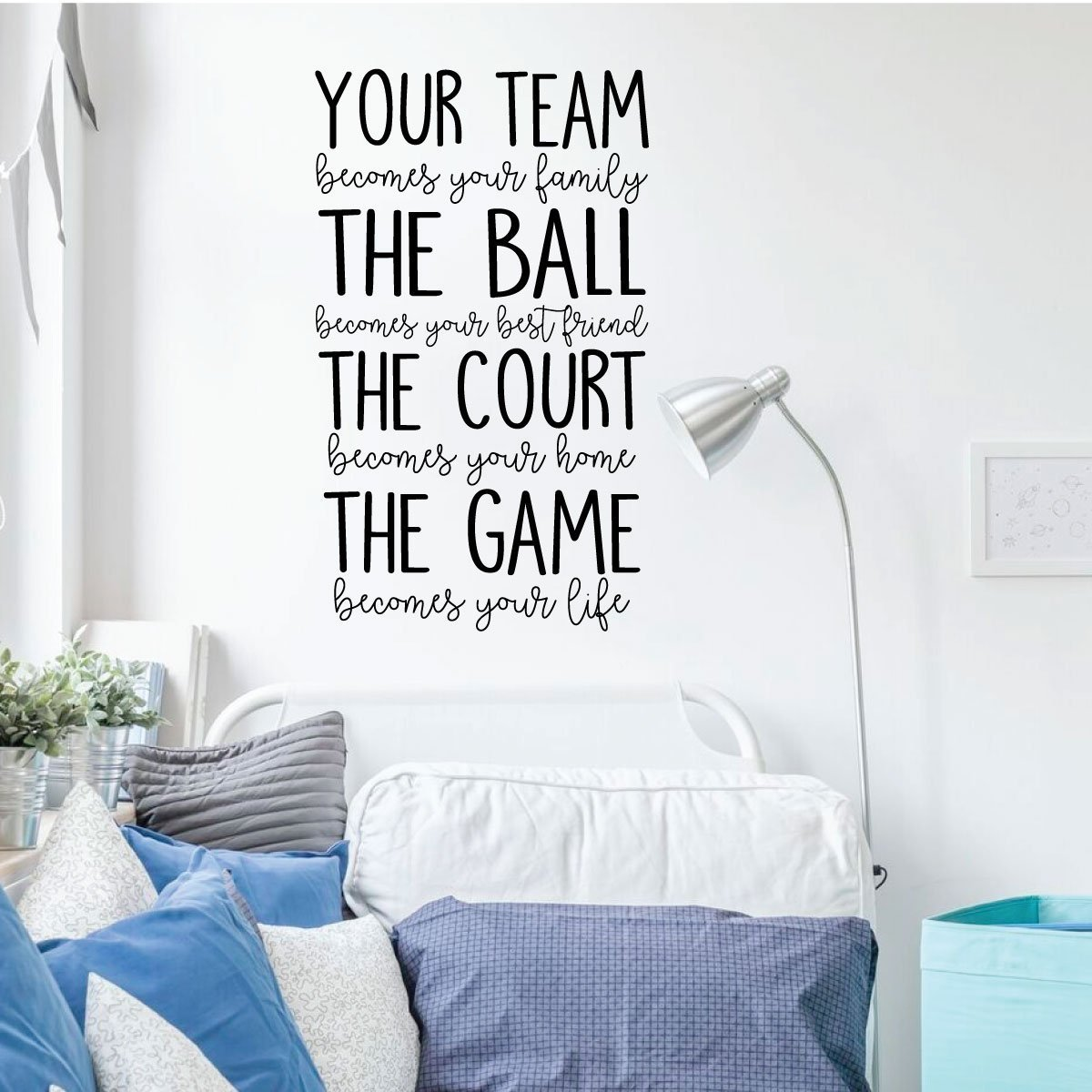Amazon.com: Volleyball or Basketball Wall Decal - Your Team ...