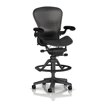 aeron chair work stool by herman miller high highly adjustable