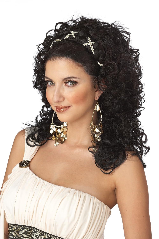 California Costumes Grecian Goddess Wig Dark Brown One Size 70015