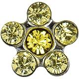 Pritties Accessories Studex Sensitive Narcisse et lumineux Topaze Verre Cristal Acier inoxydable Boucles d'oreilles marguerites 5mm GRIFFES