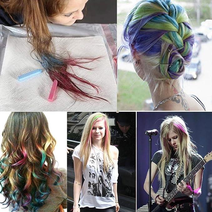 Tizas de colores MA on, para teñir el cabello, tinte temporal ...