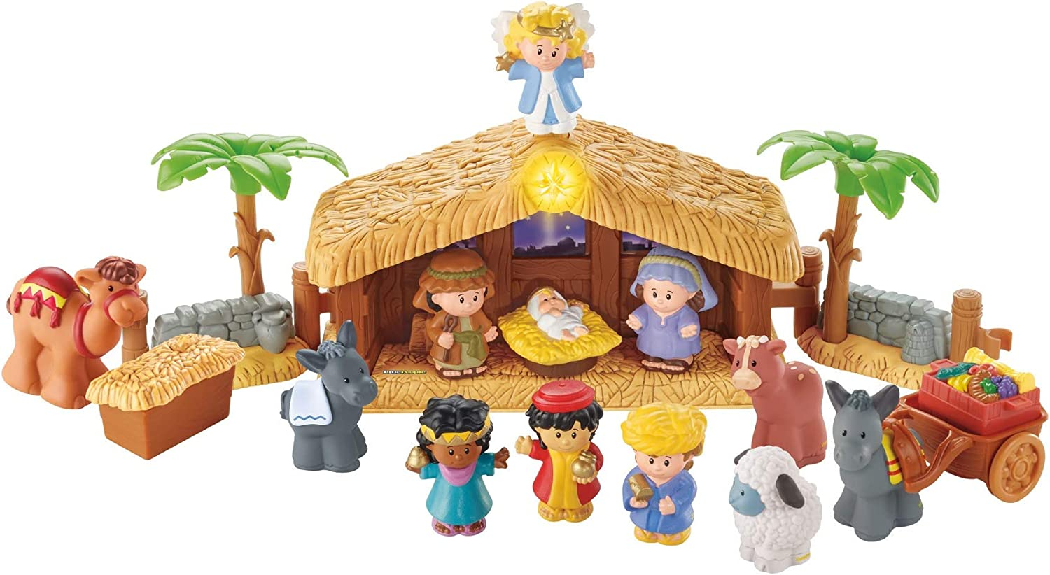 Fisher-Price Little People Christmas Story: Toys & Games