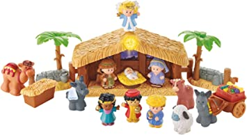 Creche De Noel Enfant Fisher Price   J2404   Little People Coffret Crèche de Noël avec