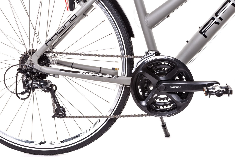 28 Zoll Alu Damen Trekking Fahrrad Crossrad Shimano Deore 24 Gang Nabendynamo