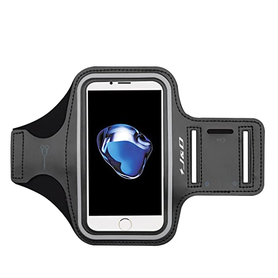 super popular 50f62 8e718 J&D Armband Compatible for iPhone 8/iPhone 7 Armband, Sports Armband with  Key Holder Slot for Apple iPhone 8, Apple iPhone 7 Running Armband, Perfect  ...