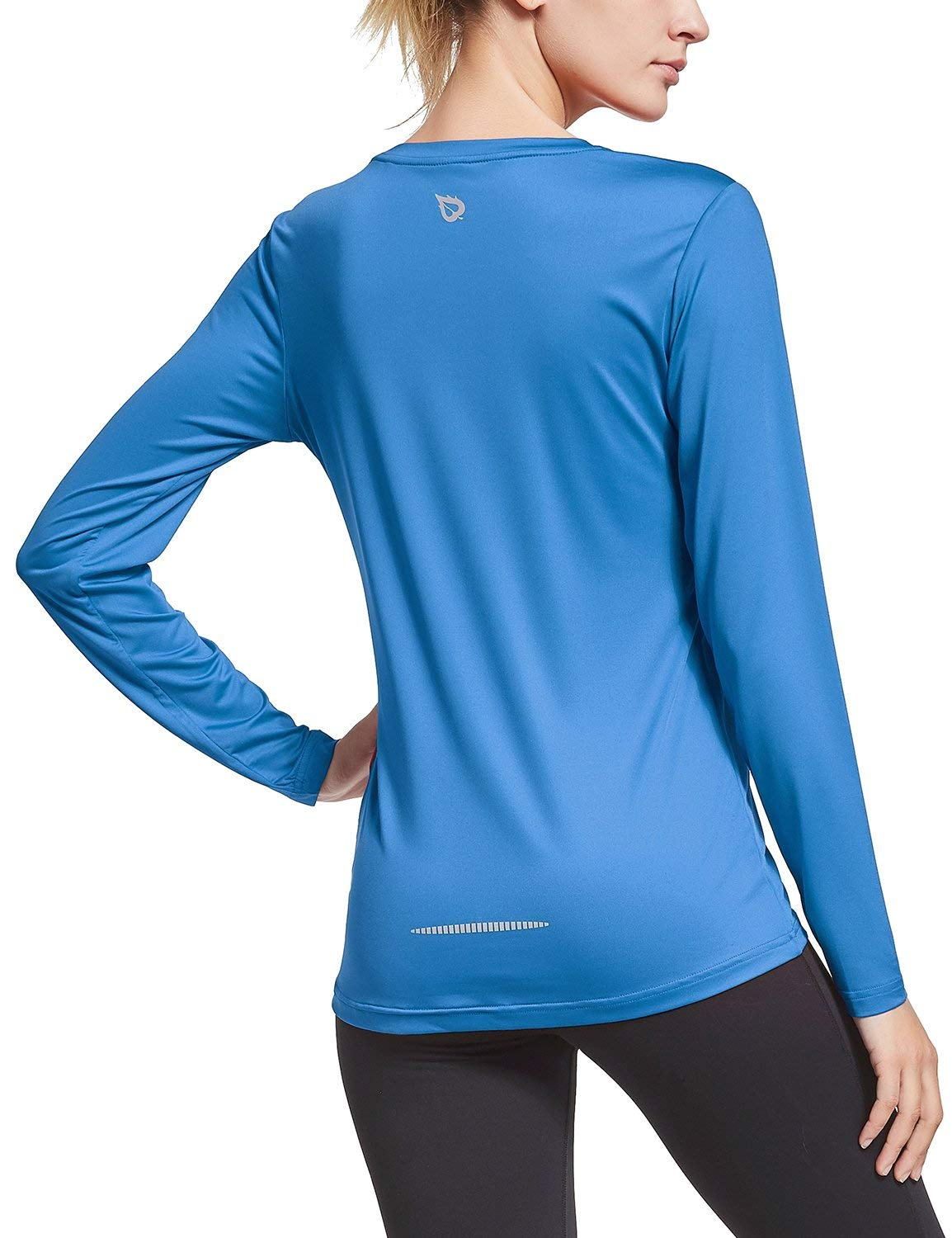 BALEAF Women's Long Sleeve T-Shirt Quick Dry Running Workout Shirts Royal Blue Size L by BALEAF