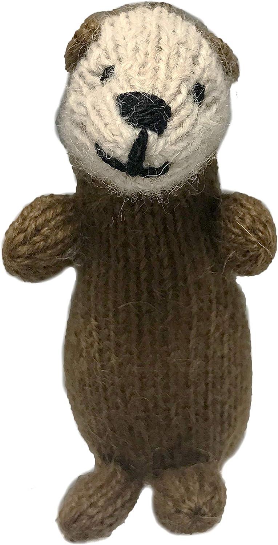Global Handmade Hope Otter Ornament - Hand Knit Soft Alpaca Blend - Fair Trade Ornament from Peru - Sea Otter - River Otter