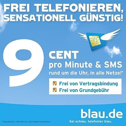Blau Sim Karte Funktioniert Nicht.Original Blau De Prepaid Sim Karte Mit 10 Euro Guthaben 5 Euro Startguthaben Und 5 Euro Aufladebonus Startpaket 9 Cent In Alle Netze E Plus Netz