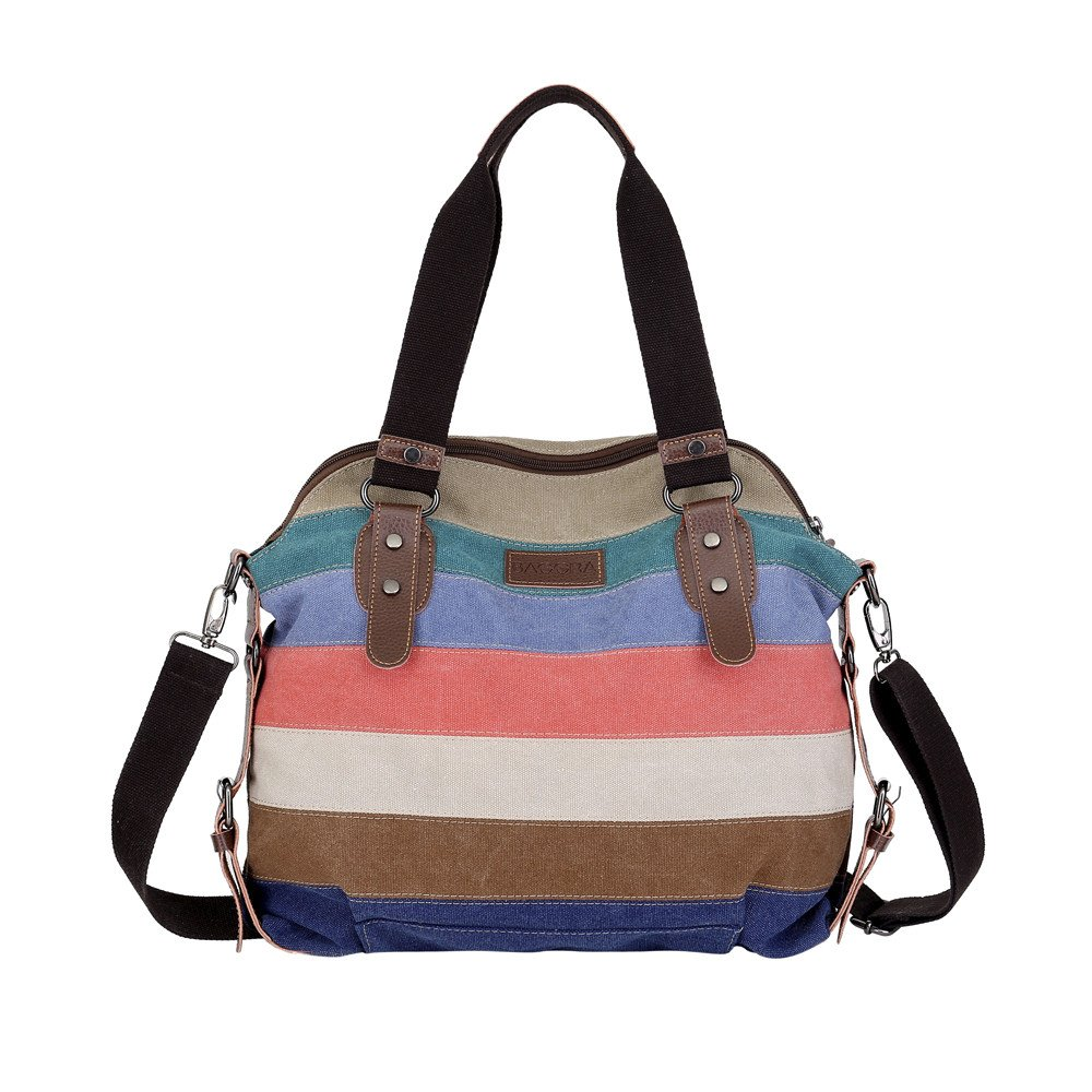 AIMTOPPY Bags, Women's Style Fashion Casual Canvas Bag (Multicolor 1, free) by AIMTOPPY