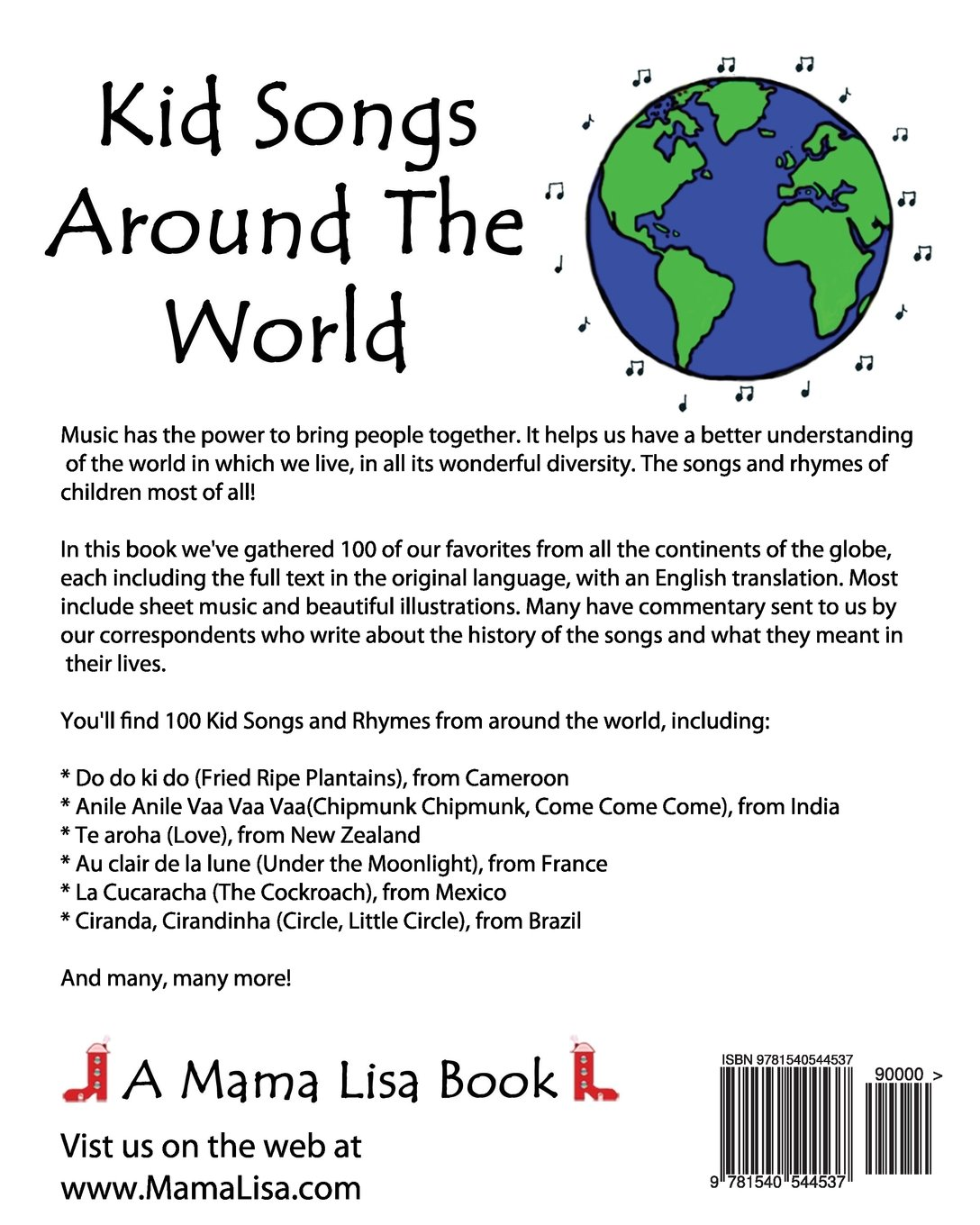 Amazon Kid Songs Around The World A Mama Lisa Book