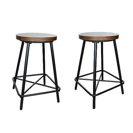 Astounding Amazon Com Carolina Cottage Thatcher Elm Black Stool Set Pabps2019 Chair Design Images Pabps2019Com