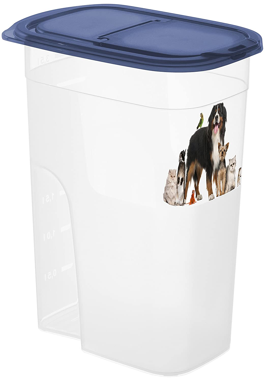 Rotho 4000110805 Aufbewahrungsbox für Tierfutter - Schüttbehälter mit Motiv Fassungsvermögen, 2.2 L Rotho Kunststoff AG Rotho_4000110805