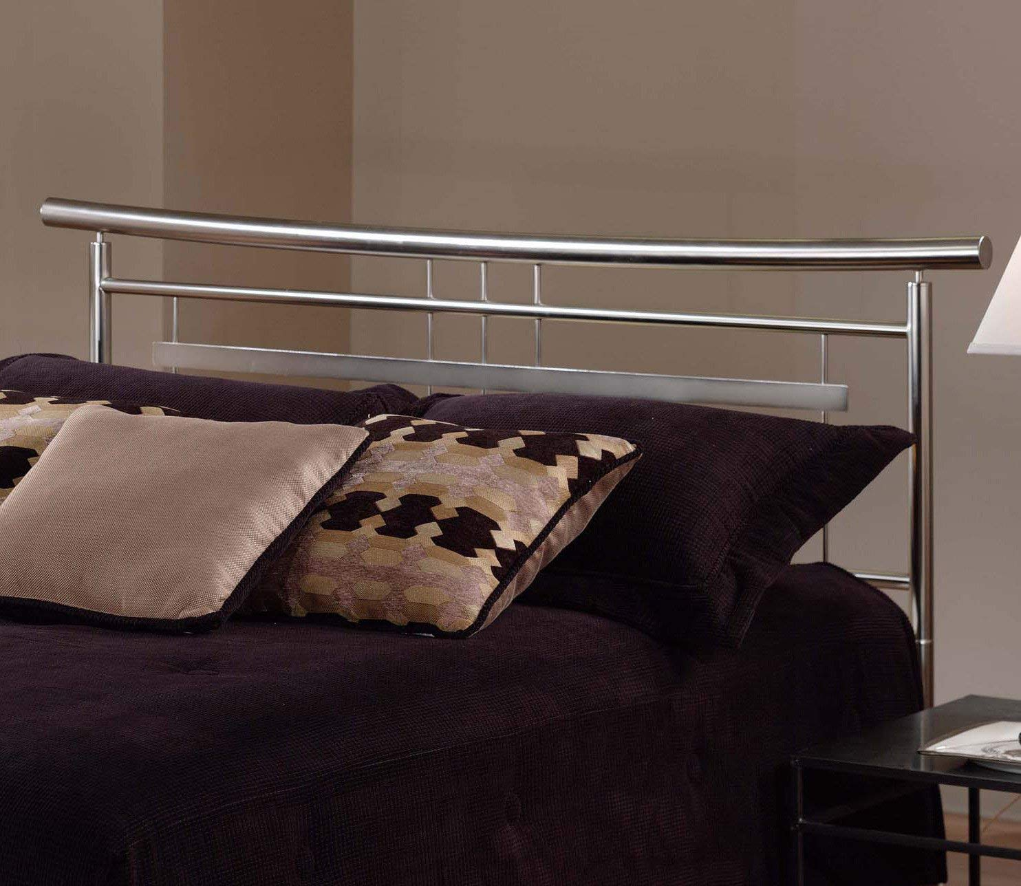 Hillsdale Furniture 1331BFR Soho Bed Set with with Rails, Full, Brushed Nickel