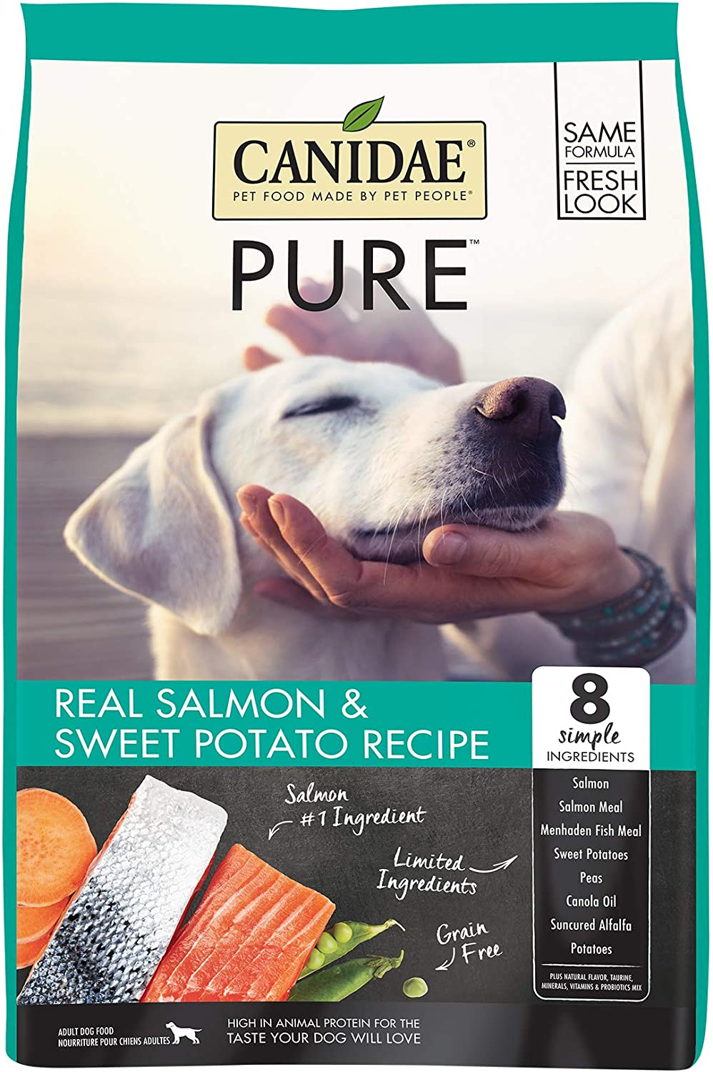 Canidae PURE Grain Free, Limited Ingredient Dry Dog Food, Salmon and Sweet Potato, 12lbs