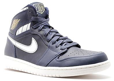 3467e9bd053 Amazon.com | Nike Mens Air Jordan 1 Retro High Jeter Midnight/Navy ...