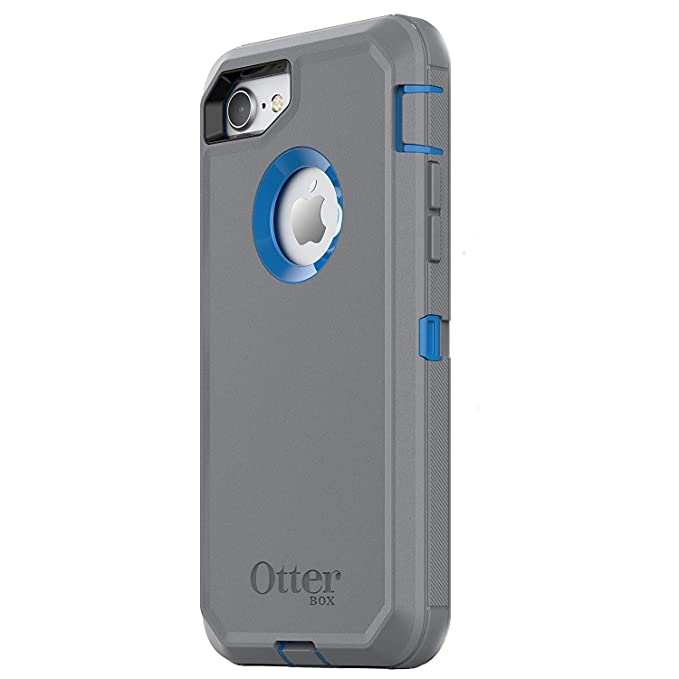 reputable site 677f9 762b8 OtterBox Defender Series Case for iPhone 8 & iPhone 7 (NOT Plus), Case Only  - Bulk Packaging - Marathoner (Cowabunga Blue/Gunmetal Grey)
