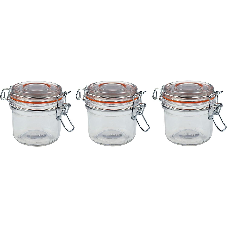 Argon Tableware Preserving / Jam Glass Storage Jars - 200ml - Pack of 3