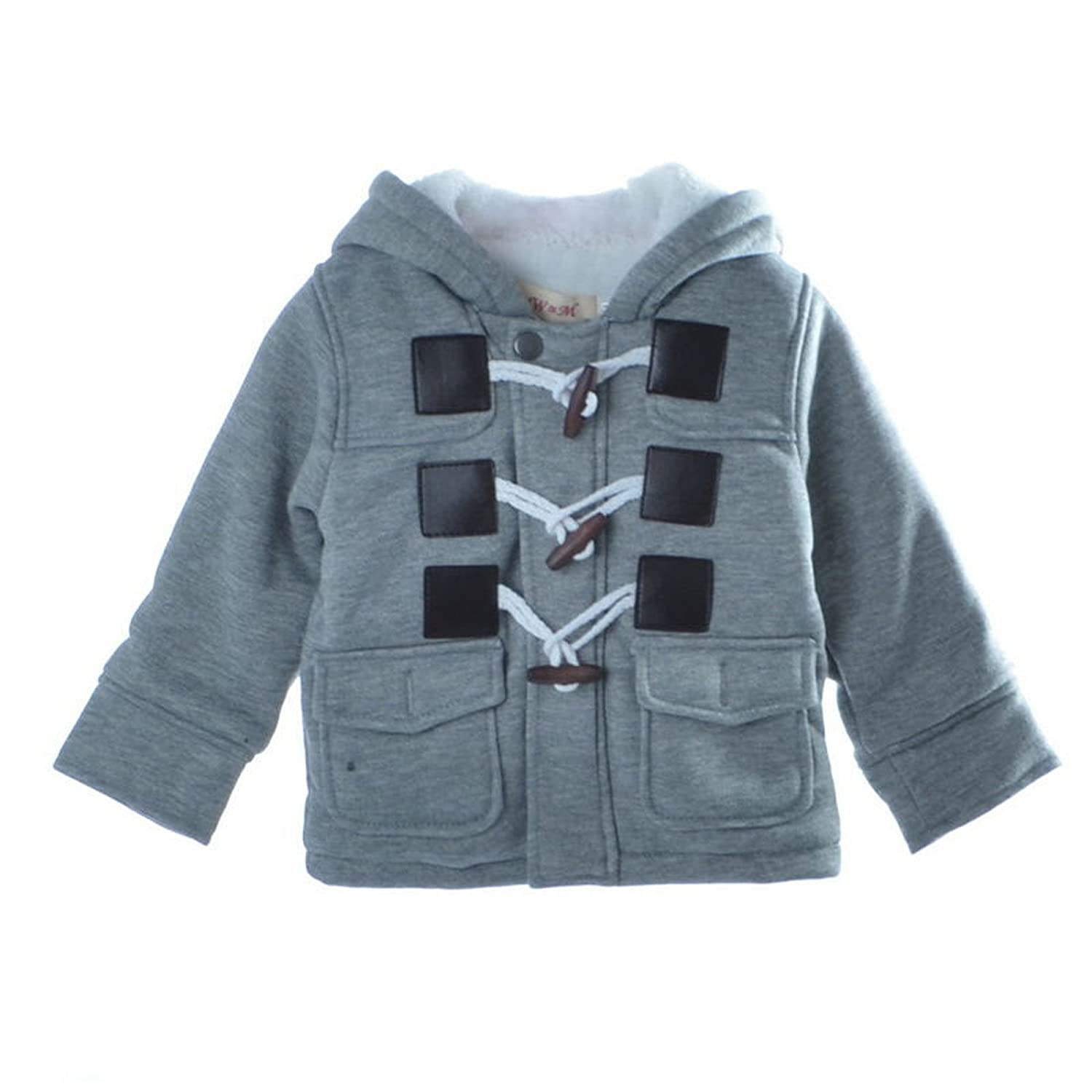 Comfy Toddler Fleece Hooded Baby Jackets Horn Button Outerwear Boy Snowsuit Warm Clothes Cute Kids Baby Boys Winter Coat