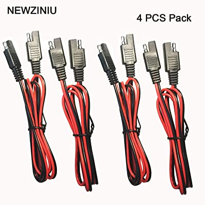 NEWZINIU 4 PCS SAE to SAE Extension Cable Quick Disconnect Wire Harness SAE Connector 3 Feet, 18AWG (4 PCS 3Ft): Car Electronics