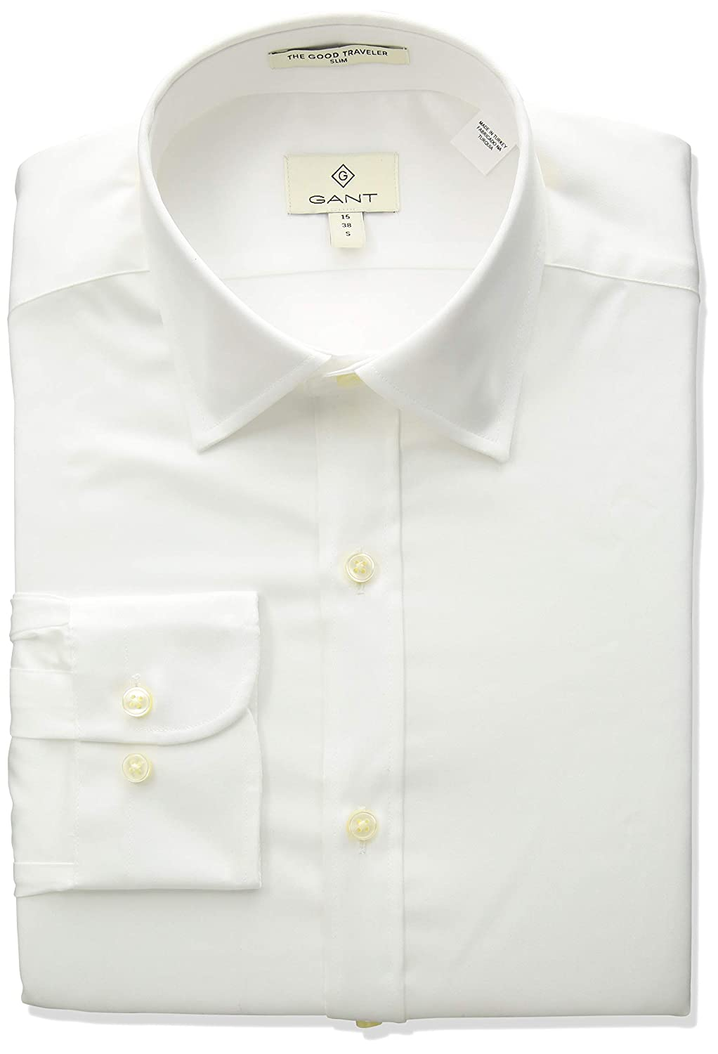 GANT Mens Stretch Plain Sateen Slim Town Shirt
