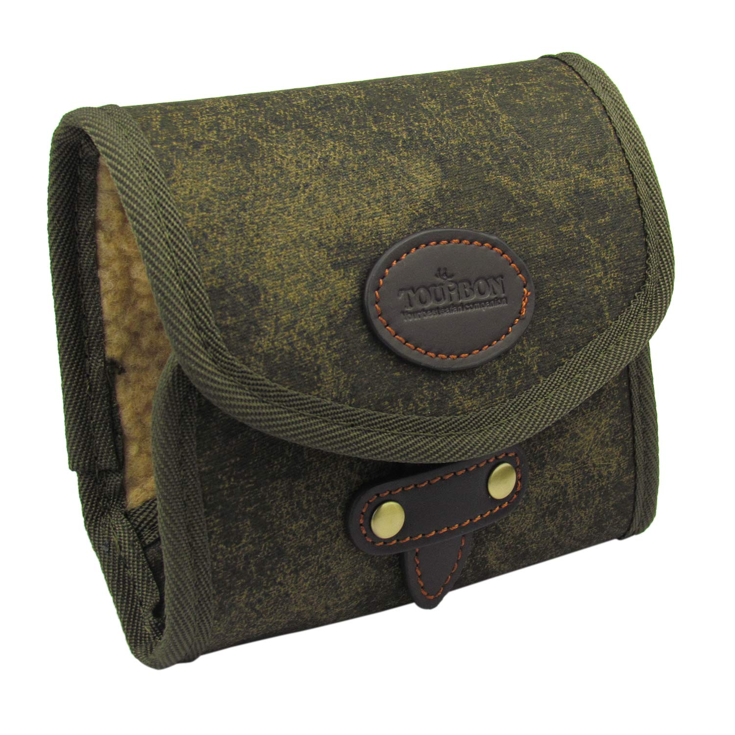 Canvas and Leather Tourbon Vintage Fly Fishing Wallet