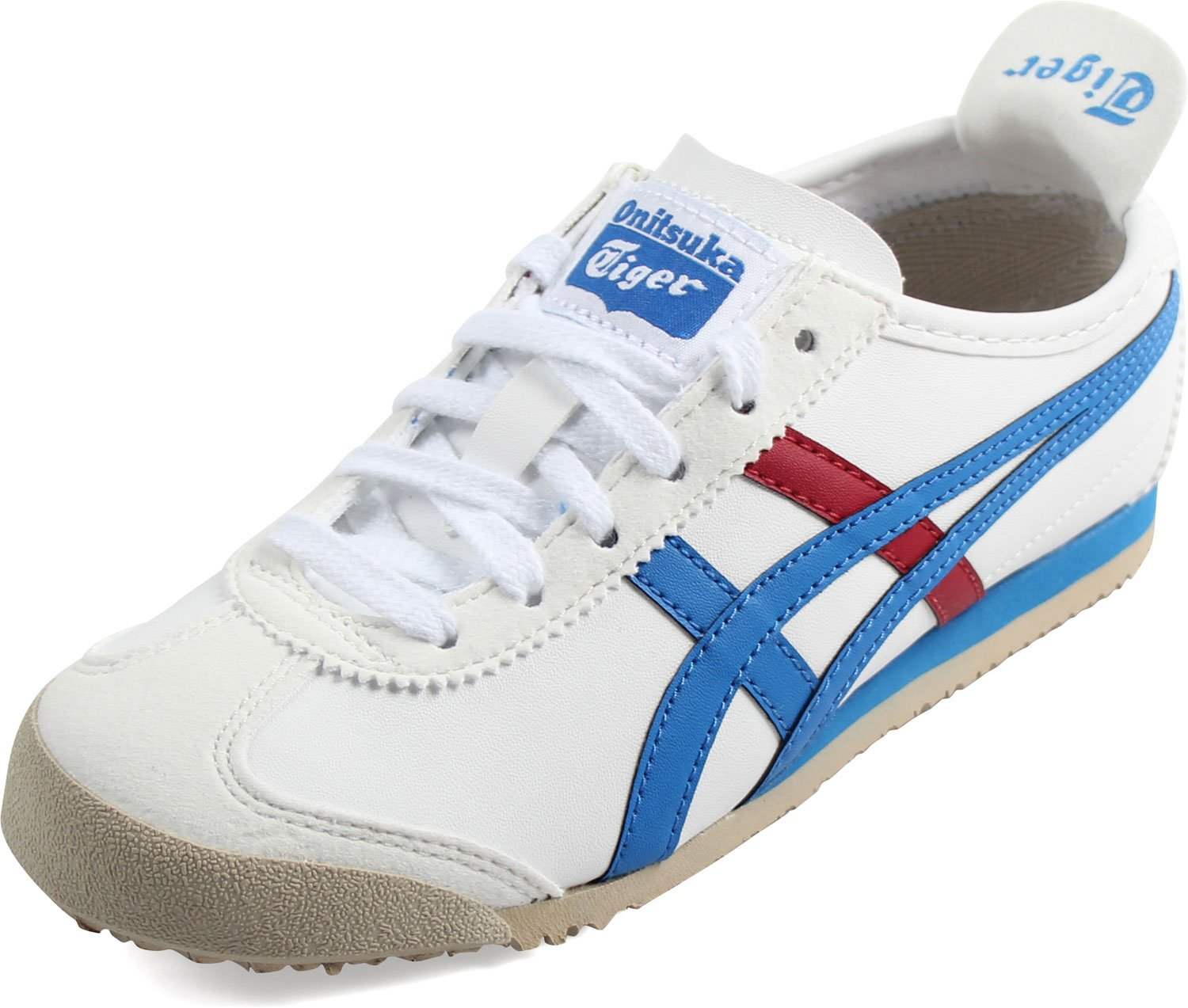 newest collection 02a3a 928c8 ASICS Mexico 66 Baja PS Running Shoe (Toddler/Little Kid), White/Mid Blue,  1 M US Little Kid