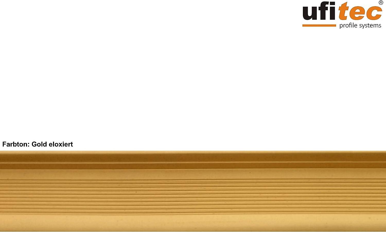 viele Farben lieferbar f/ür Belagsh/öhen von 7-15 mm ufitec Profilsystem f/ür Parkett- und Laminatb/öden /Übergangsprofil 270 cm lang | 45 mm Breit, Gold
